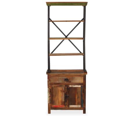 vidaXL Šoninė spintelė su lentynomis, perdirbta mediena, 65x30x180 cm[3/15]