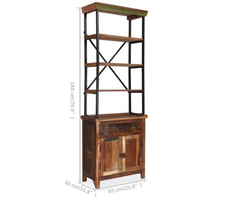 vidaXL Šoninė spintelė su lentynomis, perdirbta mediena, 65x30x180 cm[9/15]