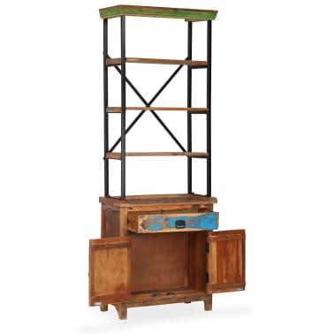 vidaXL Šoninė spintelė su lentynomis, perdirbta mediena, 65x30x180 cm[2/15]