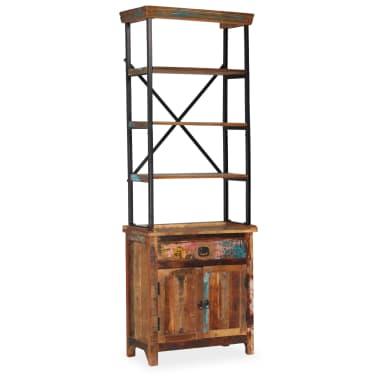 vidaXL Šoninė spintelė su lentynomis, perdirbta mediena, 65x30x180 cm[11/15]