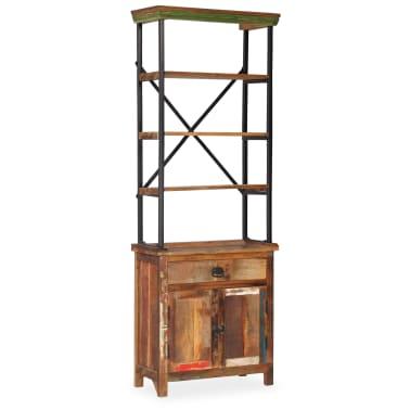 vidaXL Šoninė spintelė su lentynomis, perdirbta mediena, 65x30x180 cm[14/15]
