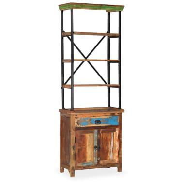 vidaXL Šoninė spintelė su lentynomis, perdirbta mediena, 65x30x180 cm[15/15]