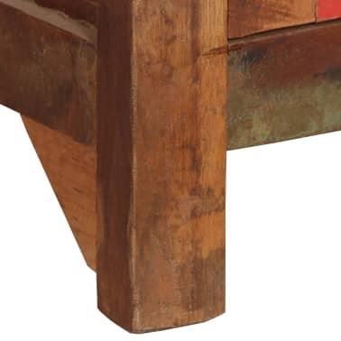 vidaXL Šoninė spintelė su lentynomis, perdirbta mediena, 65x30x180 cm[4/15]
