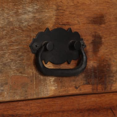 vidaXL Šoninė spintelė su lentynomis, perdirbta mediena, 65x30x180 cm[5/15]