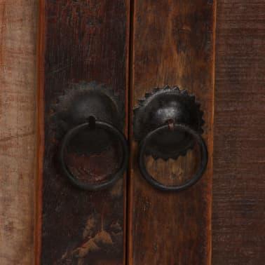 vidaXL Šoninė spintelė su lentynomis, perdirbta mediena, 65x30x180 cm[6/15]