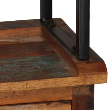 vidaXL Šoninė spintelė su lentynomis, perdirbta mediena, 65x30x180 cm[7/15]