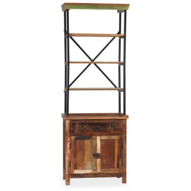 vidaXL Šoninė spintelė su lentynomis, perdirbta mediena, 65x30x180 cm[10/15]