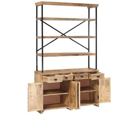 vidaXL Šoninė spintelė su lentynomis, mango mediena, 120x35x200cm[2/14]