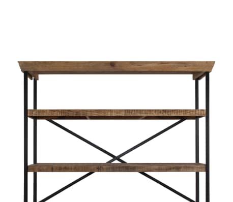 vidaXL Šoninė spintelė su lentynomis, mango mediena, 120x35x200cm[5/14]