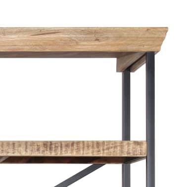 vidaXL Šoninė spintelė su lentynomis, mango mediena, 120x35x200cm[4/14]