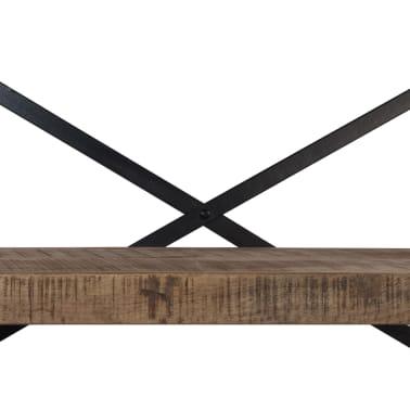 vidaXL Šoninė spintelė su lentynomis, mango mediena, 120x35x200cm[6/14]