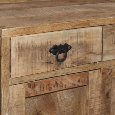 vidaXL Šoninė spintelė su lentynomis, mango mediena, 120x35x200cm[8/14]