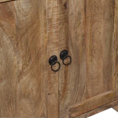 vidaXL Šoninė spintelė su lentynomis, mango mediena, 120x35x200cm[9/14]