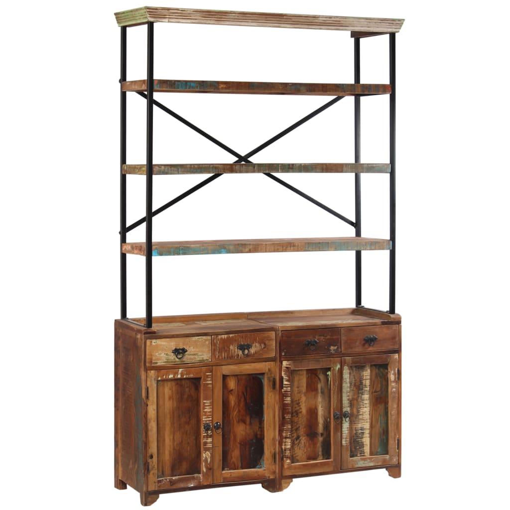 vidaXL Příborník s policemi masivní recyklované dřevo 120x35x200 cm