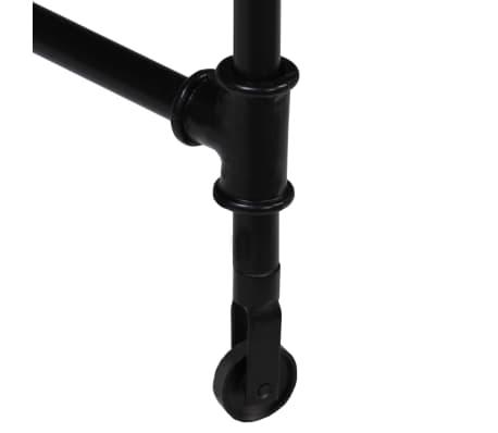 vidaXL Rašomasis stalas, mango mediena ir plienas, 110x50x96cm[6/13]