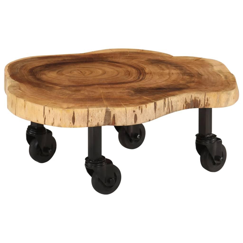 vidaXL Măsuță de cafea, 60 x 55 x 25 cm, lemn masiv de acacia poza 2021 vidaXL