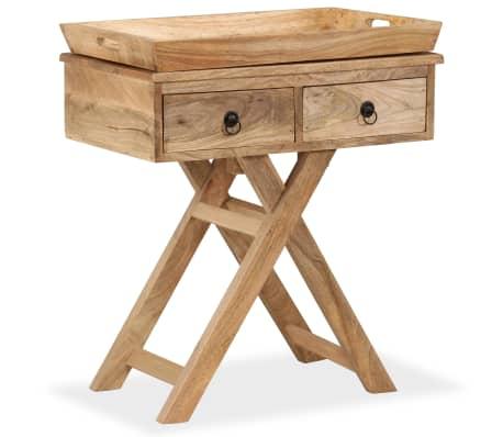 vidaXL Tavolino da Salotto in Legno Massello di Mango 65x40x76 cm