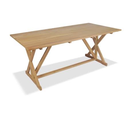 vidaXL tömör tíkfa étkezőasztal 180 x 90 x 75 cm