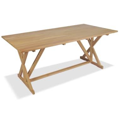 vidaXL Table de salle à manger Bois de teck massif 180 x 90 x 75 cm[2/8]