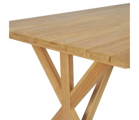 vidaXL Stół do jadalni z litego drewna tekowego, 180 x 90 x 75 cm[5/8]