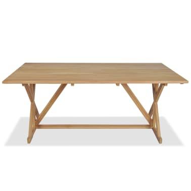 vidaXL Table de salle à manger Bois de teck massif 180 x 90 x 75 cm[3/8]