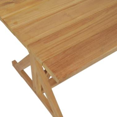 vidaXL Stół do jadalni z litego drewna tekowego, 180 x 90 x 75 cm[4/8]
