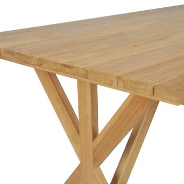 vidaXL Table de salle à manger Bois de teck massif 180 x 90 x 75 cm[5/8]