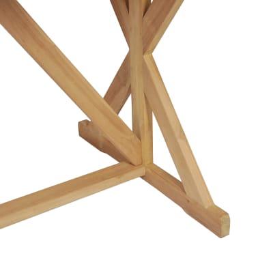 vidaXL Stół do jadalni z litego drewna tekowego, 180 x 90 x 75 cm[7/8]