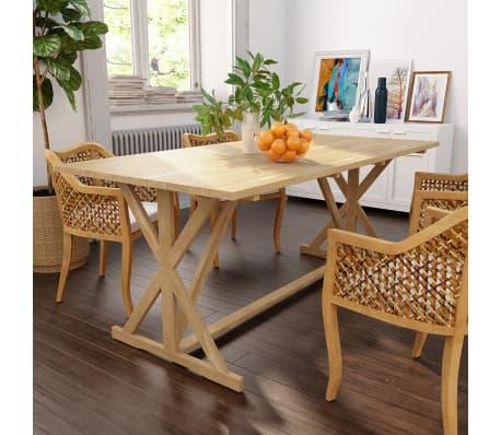 vidaXL Table de salle à manger Bois de teck massif 180 x 90 x 75 cm[1/8]
