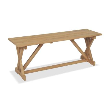 vidaXL Banco de jardín 120 cm madera maciza de teca[2/10]