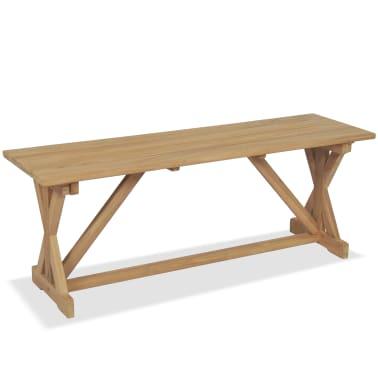vidaXL Bancă de grădină, 120 cm, lemn masiv de tec[2/10]
