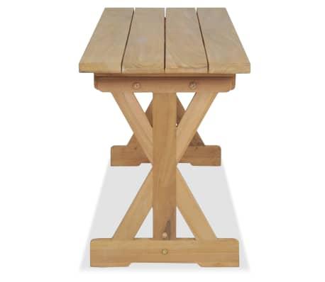 vidaXL Bancă de grădină, 120 cm, lemn masiv de tec[4/10]