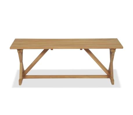 vidaXL Bancă de grădină, 120 cm, lemn masiv de tec[5/10]