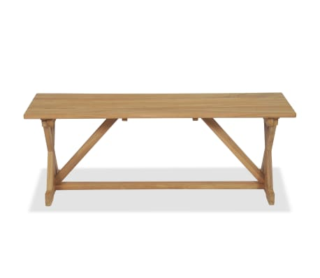 vidaXL Banco de jardín 120 cm madera maciza de teca[5/10]