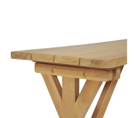 vidaXL Bancă de grădină, 120 cm, lemn masiv de tec[7/10]