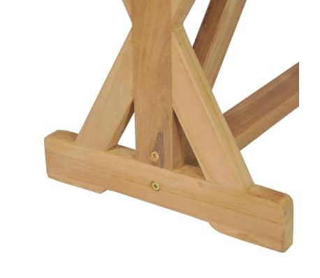 vidaXL Bancă de grădină, 120 cm, lemn masiv de tec[8/10]