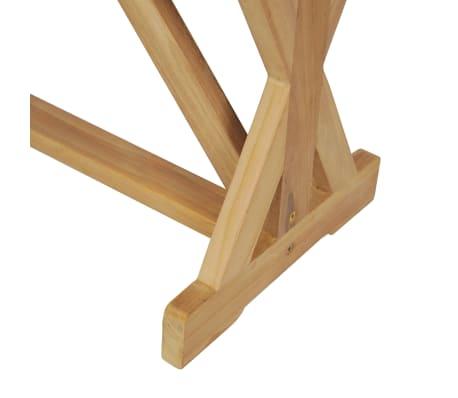 vidaXL Banco de jardín 120 cm madera maciza de teca[9/10]