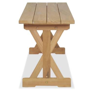 vidaXL Banco de jardín 120 cm madera maciza de teca[4/10]