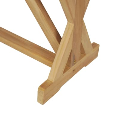vidaXL Bancă de grădină, 120 cm, lemn masiv de tec[9/10]