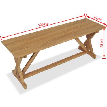 vidaXL Bancă de grădină, 120 cm, lemn masiv de tec[10/10]