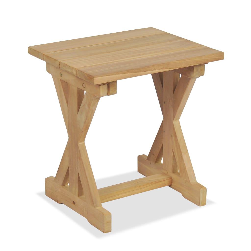 vidaXL Venkovní stolička, masivní teak, 42 x 35 x 45 cm