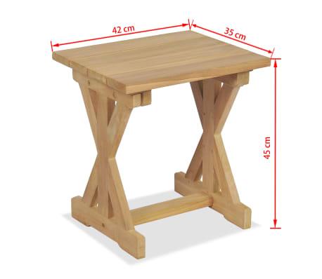 vidaXL Gartenhocker 42×35×45 cm Massivholz Teak[7/7]