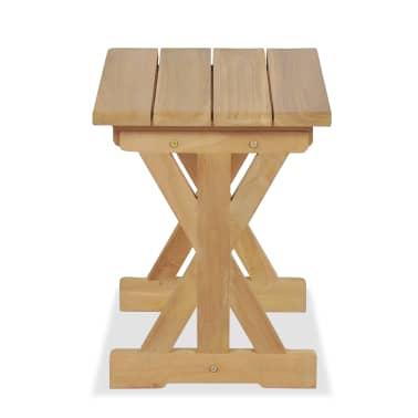 vidaXL Gartenhocker 42×35×45 cm Massivholz Teak[4/7]