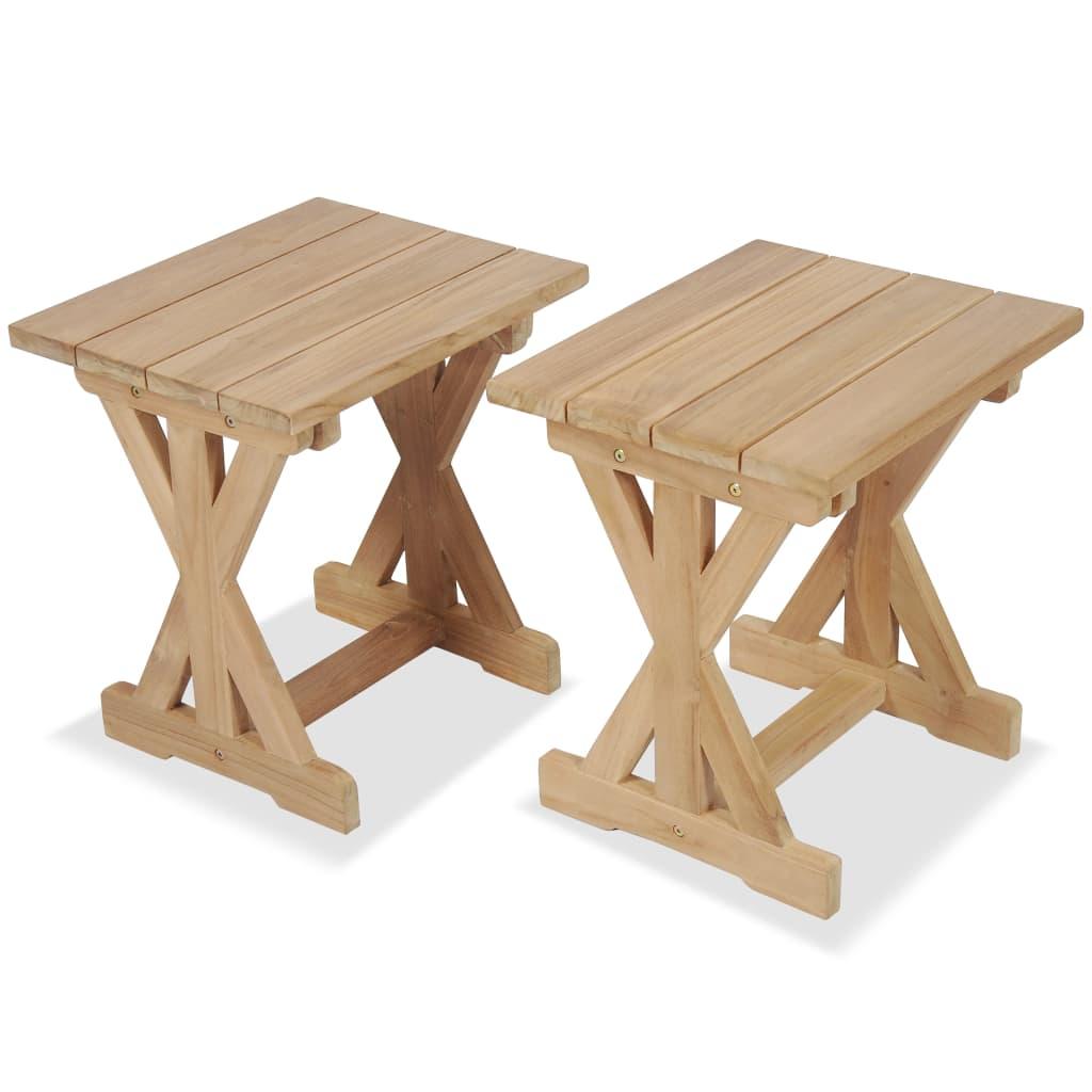 vidaXL Venkovní stoličky, 2 ks, masivní teak, 42 x 35 x 45 cm