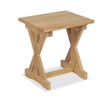 vidaXL Taburete de grădină, 2 buc., 42 x 35 x 45 cm, lemn masiv de tec[4/9]