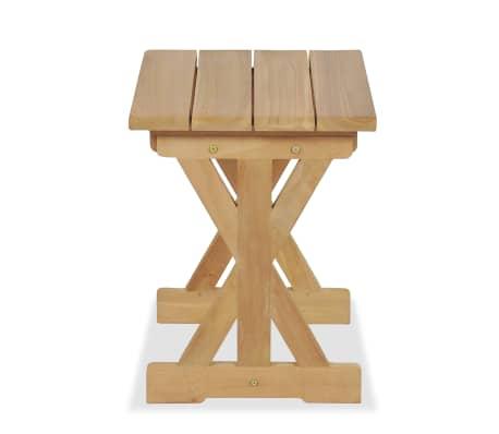 vidaXL Taburete de grădină, 2 buc., 42 x 35 x 45 cm, lemn masiv de tec[6/9]