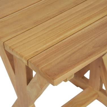 vidaXL Taburete de grădină, 2 buc., 42 x 35 x 45 cm, lemn masiv de tec[7/9]