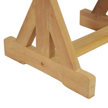 vidaXL Taburete de grădină, 2 buc., 42 x 35 x 45 cm, lemn masiv de tec[8/9]