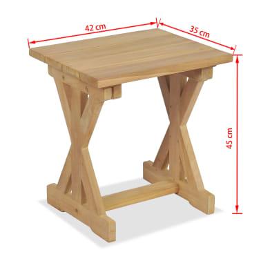 vidaXL Taburete de grădină, 2 buc., 42 x 35 x 45 cm, lemn masiv de tec[9/9]
