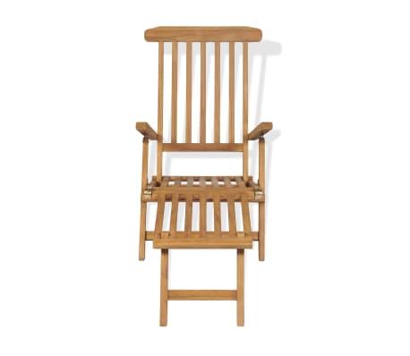 Acheter vidaxl chaise longue avec repose pied teck 158 x 61 x 90 cm pas cher - Chaise longue teck pas cher ...